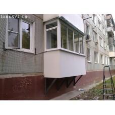 Балкон на первом этаже (подвесной)