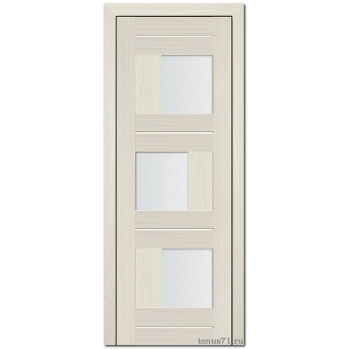 Экошпон дверь 13X (остекленная), цвет: эш вайт