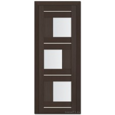 Экошпон дверь 13X (остекленная), цвет: венге