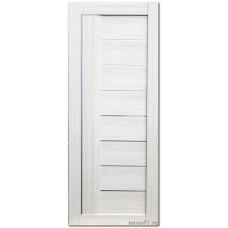 Экошпон дверь 17X (остекленная), цвет: эш вайт