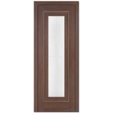 Экошпон дверь 24X (остекленная), цвет: Натвуд Натинга