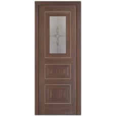 Экошпон дверь 26X (остекленная), цвет: Эш Вайт