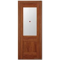 Экошпон дверь 2X (фьюзинг), цвет: орех амари