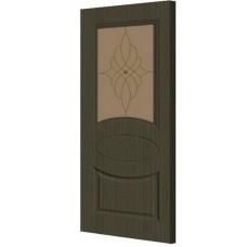 Экошпон дверь Гера (остекленная), цвет: венге мелинга