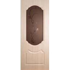 Экошпон дверь Венера (остекленная), цвет: беленый дуб