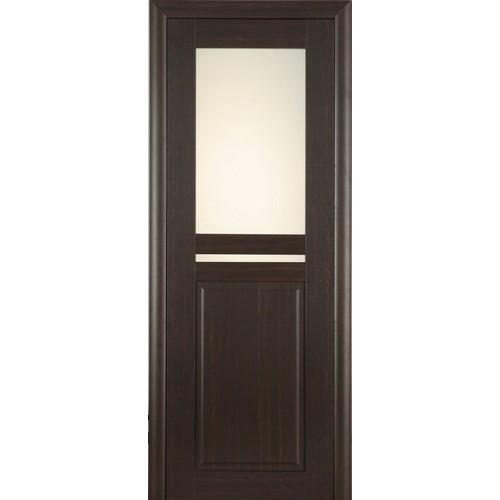 Ламинированная ПВХ дверь Аделина (остекленная), цвет: венге