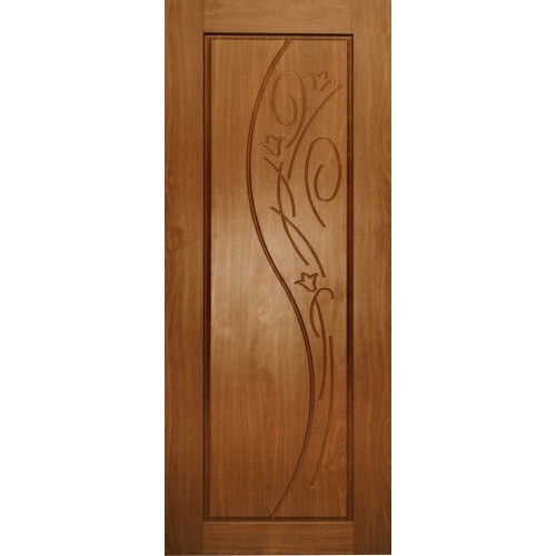 Ламинированная ПВХ дверь Азалия (глухая), цвет: орех