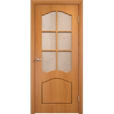 Ламинированная ПВХ дверь Альфа (остекленная)