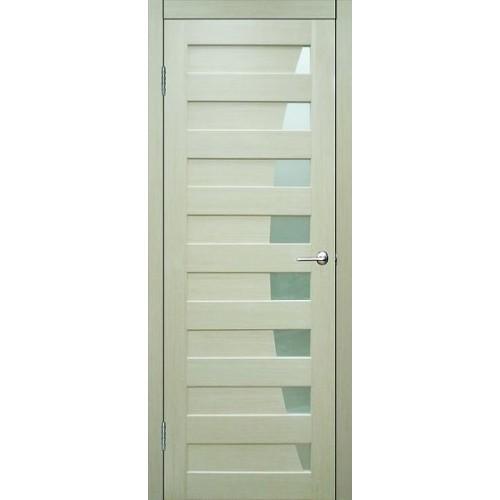 Ламинированная ПВХ дверь Стрелец (остекленная), цвет: беленый дуб