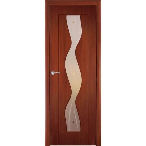 Ламинированная ПВХ дверь Водопад (фьюзинг), цвет: итальянский орех