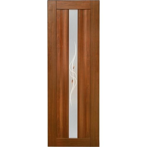 Ламинированная ПВХ дверь Юлиана (фьюзинг), цвет: итальянский орех