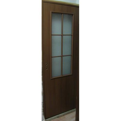 Ламинированная дверь 21-56 (фьюзинг), цвет: орех