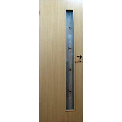 Ламинированная дверь 05-(ф-2) (фьюзинг), цвет: бук
