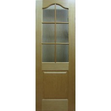Шпонированная  дверь «Капричеза» (остекленная), цвет: дуб
